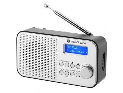 Radiopřijímač DAB+ GoGEN DAB 300 N, stříbrný