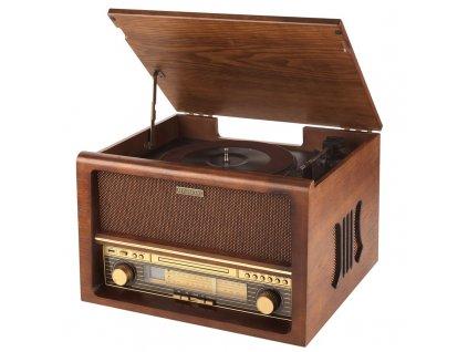 Gramofon s CD Hyundai RTCB 503 RIP, FM tuner, USB, ripování, bluetooth, dřevěné provedení