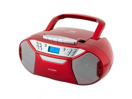 Radiomagnetofon Hyundai TRC 333 AU3 BT R s CD/MP3/USB, Bluetooth, červený
