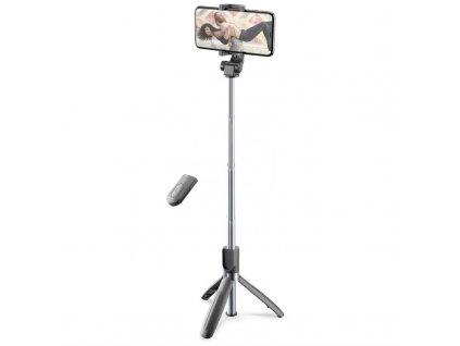 Selfie tyč CellularLine Freedom s funkcí tripodu - černá
