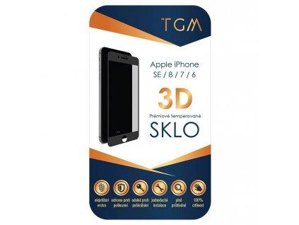 Tvrzené sklo TGM 3D na Apple iPhone 6/7/8/SE (2020) - černé