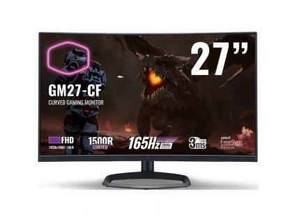 """Monitor Cooler Master GM27-CF 27"""",LED, VA, 3ms, 3000:1, 300cd/m2, 1920 x 1080,DP, - černý"""