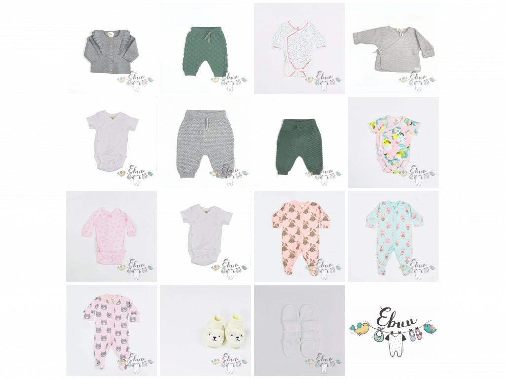 novorozenecký komplet, 16 kusů