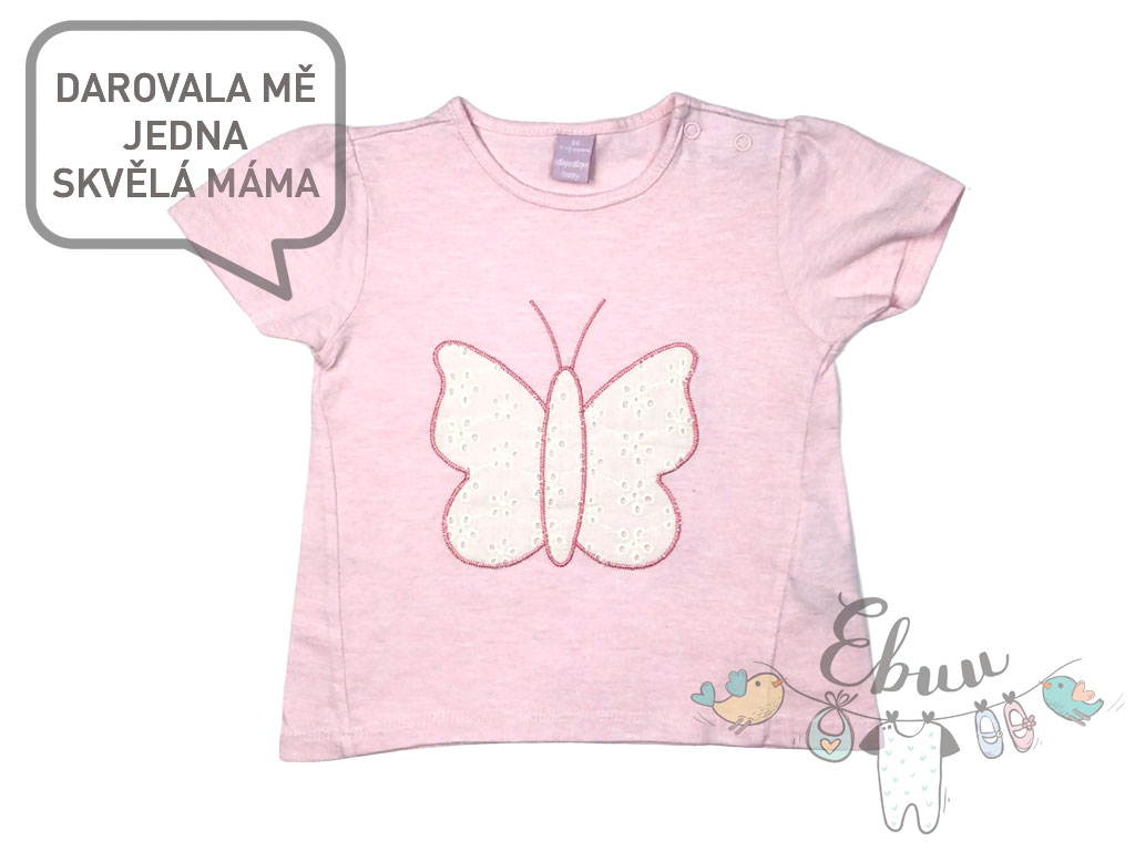 triko s motýlem