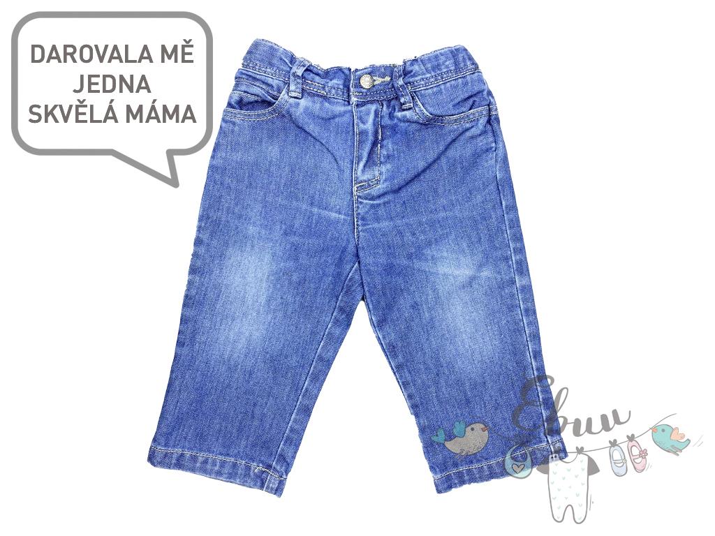 džínové kalhotky na knoflík