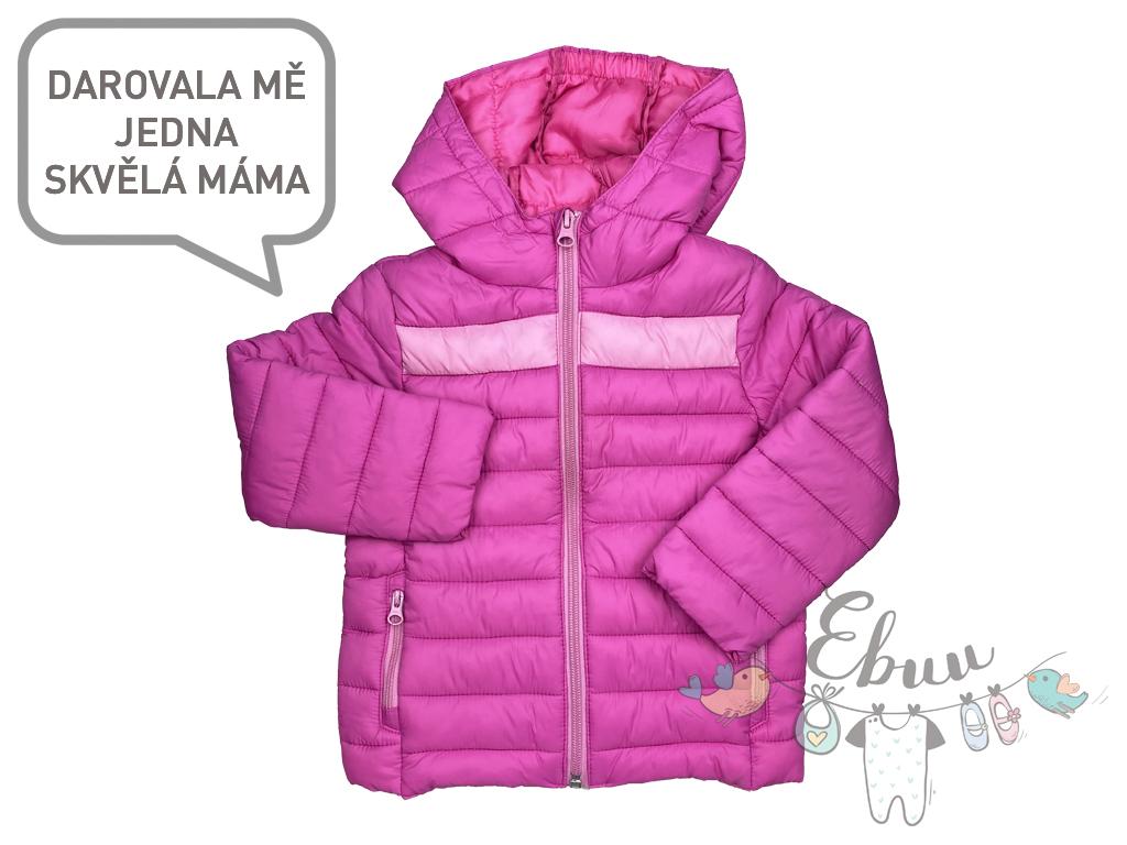 růžová zimní bunda