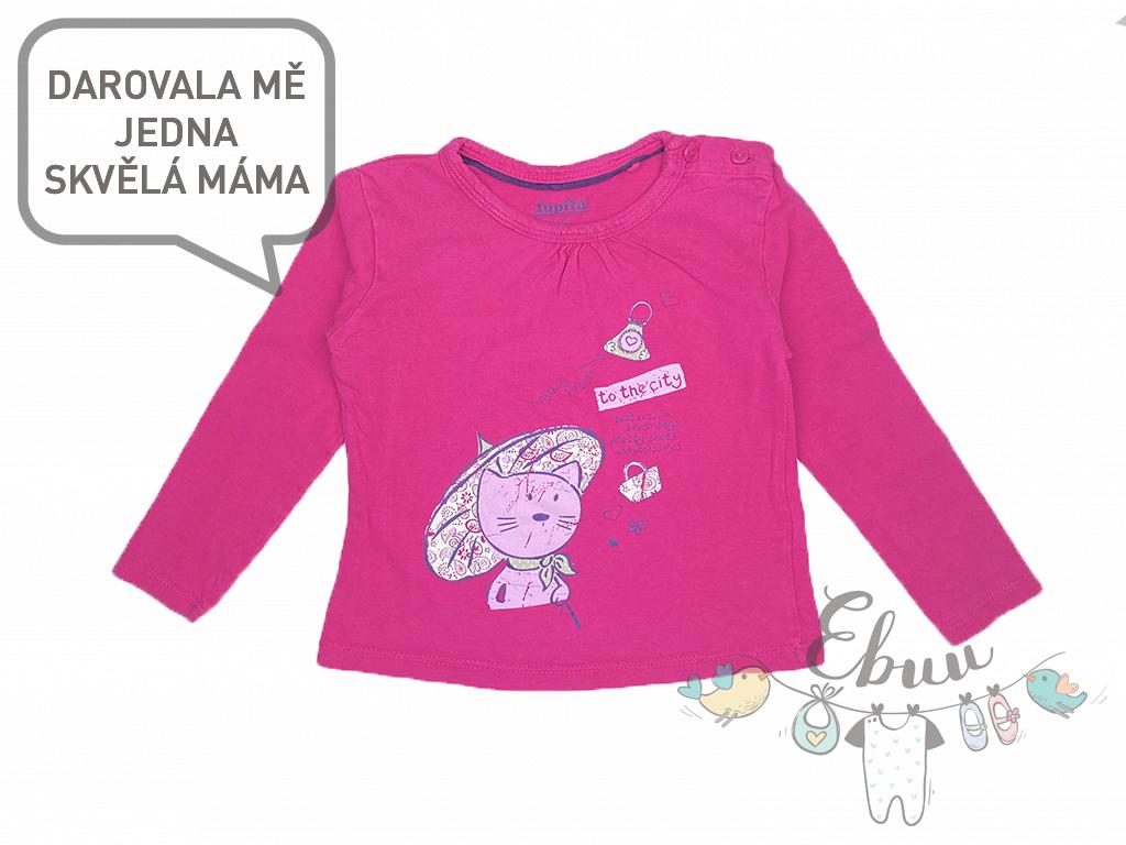 růžové tričko s kočičkou
