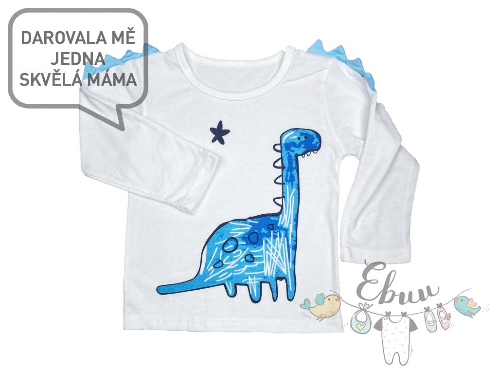 bílé tričko s dinosaurem