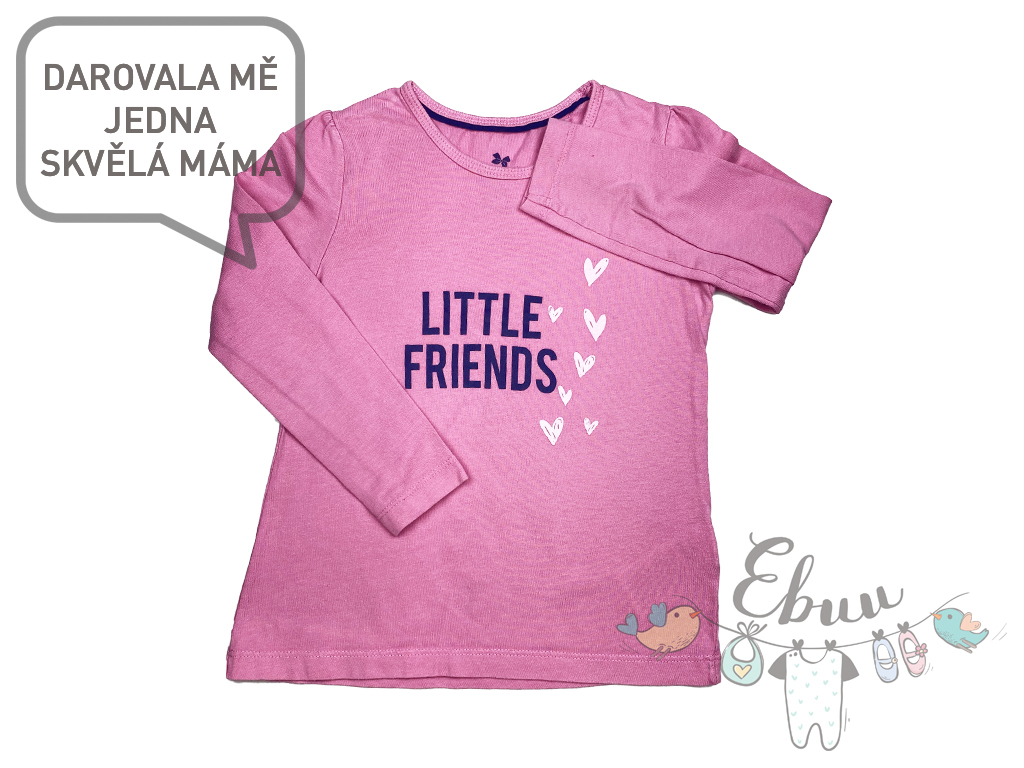 růžové tričko Little friends