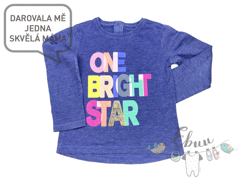 "modré tričko ""One Bright Star"""