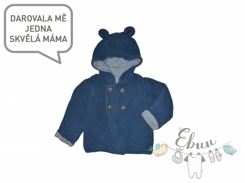modrý svetřík s kapucí