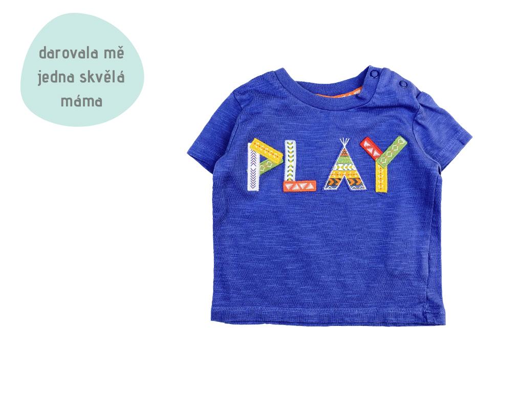 modré tričko PLAY, vel. 62