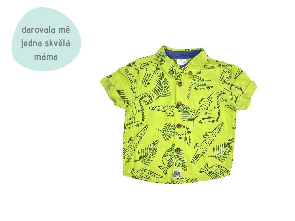zelená krokodýlí košile