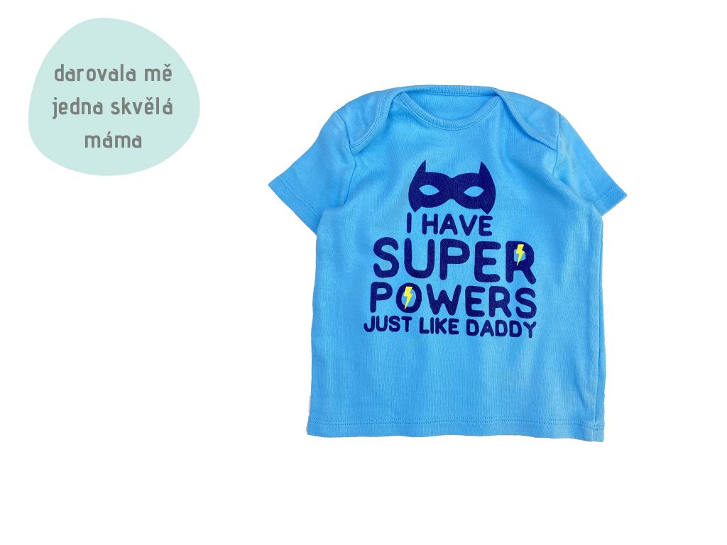 modré tričko Super power