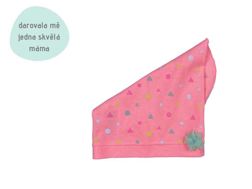 růžový šáteček