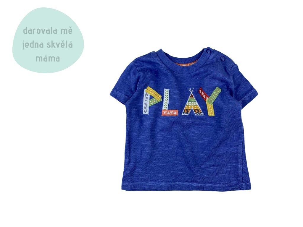 modré tričko PLAY, vel. 68