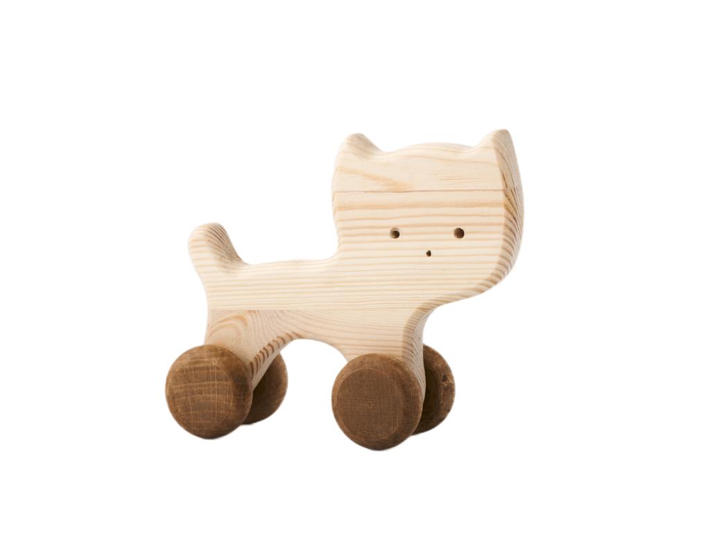 kočička Nelinka - dřevěná hračka