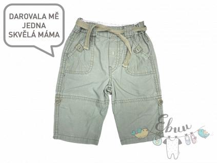 khaki kalhoty a kraťasy 2v1