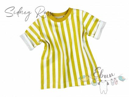 triko žlutý pruhy