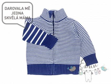 pruhovaný svetr na zapínání