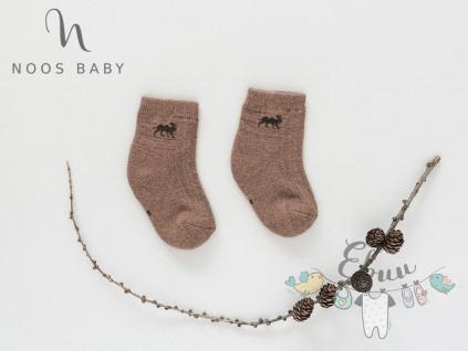 ponožky velbloud hnědé logo