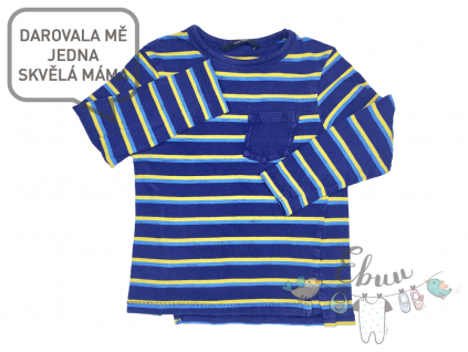 pruhované tričko s dlouhým rukávem