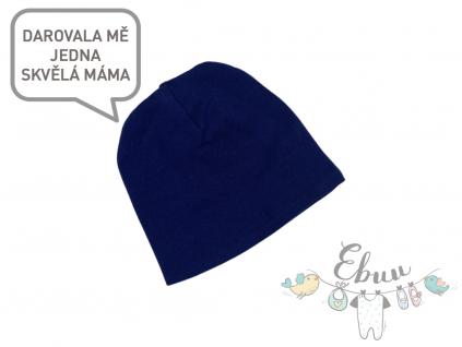 čepice tmavě modrá