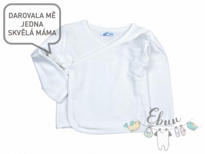 bílé zavinovací tričko