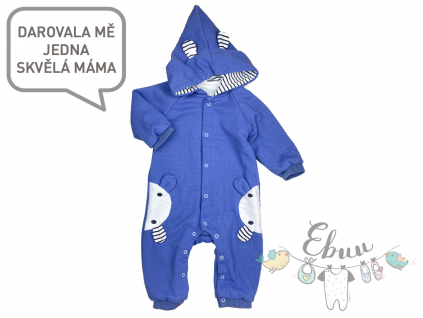 teplé tmavě modré pyžamko