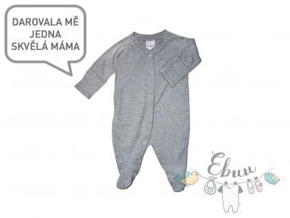šedé pyžamko Hanna Andersson