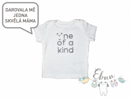 "bílé tričko ""One of a kind"""