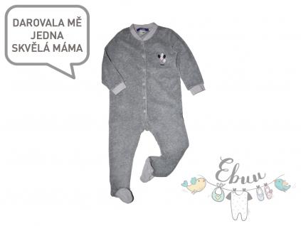 šedé semišové pyžamko