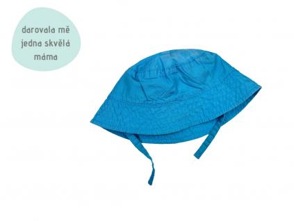 tyrkysový letní klobouček