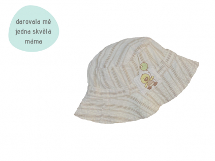 béžový letní klobouček