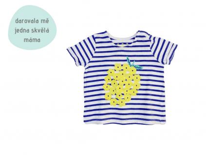 pruhované tričko s ozdobou