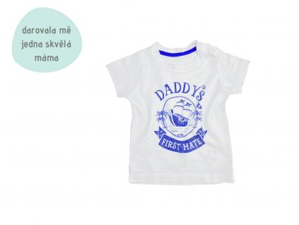 bílé tričko Daddy's first mate
