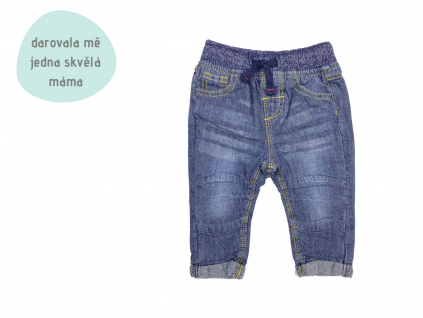 tmavé džínové kalhoty