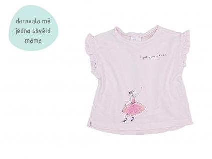 růžové tričko s volánky