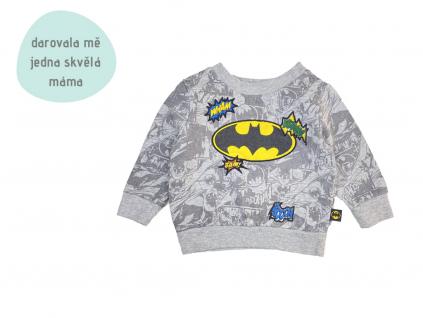šedá mikina Batman
