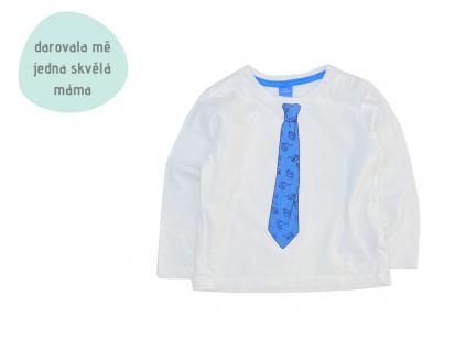 bílé tričko kravaťák