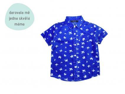modrá krabí košile