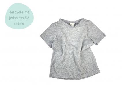 šedé tričko s krátkým rukávem