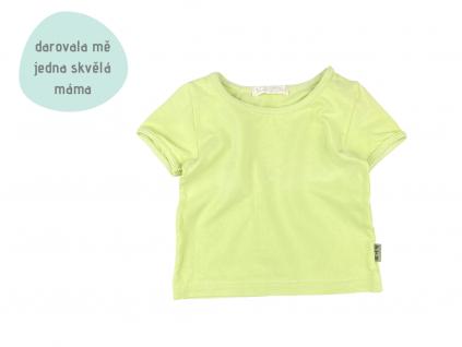 zelenkavé tričko s krátkým rukávem
