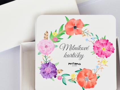 milníkové kartičky Květinový věnec