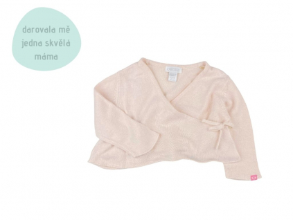 růžový zavinovací svetřík