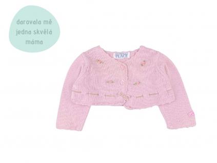 růžový crop top svetřík