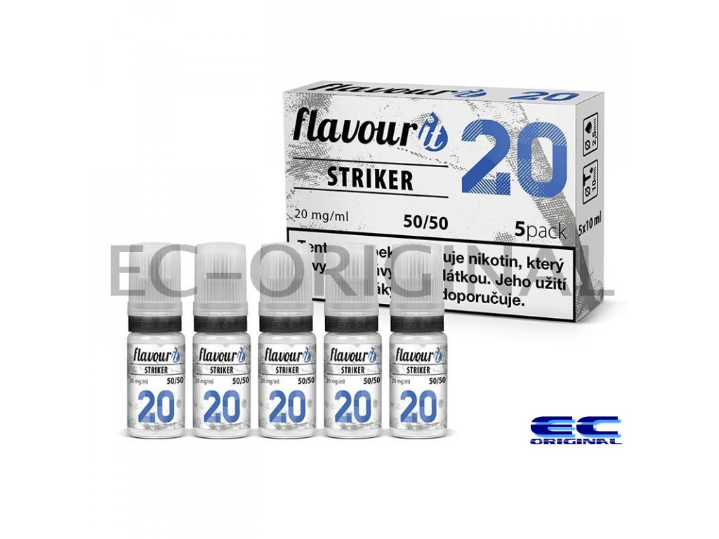 flavourit striker 50 50 20mg 5x10ml