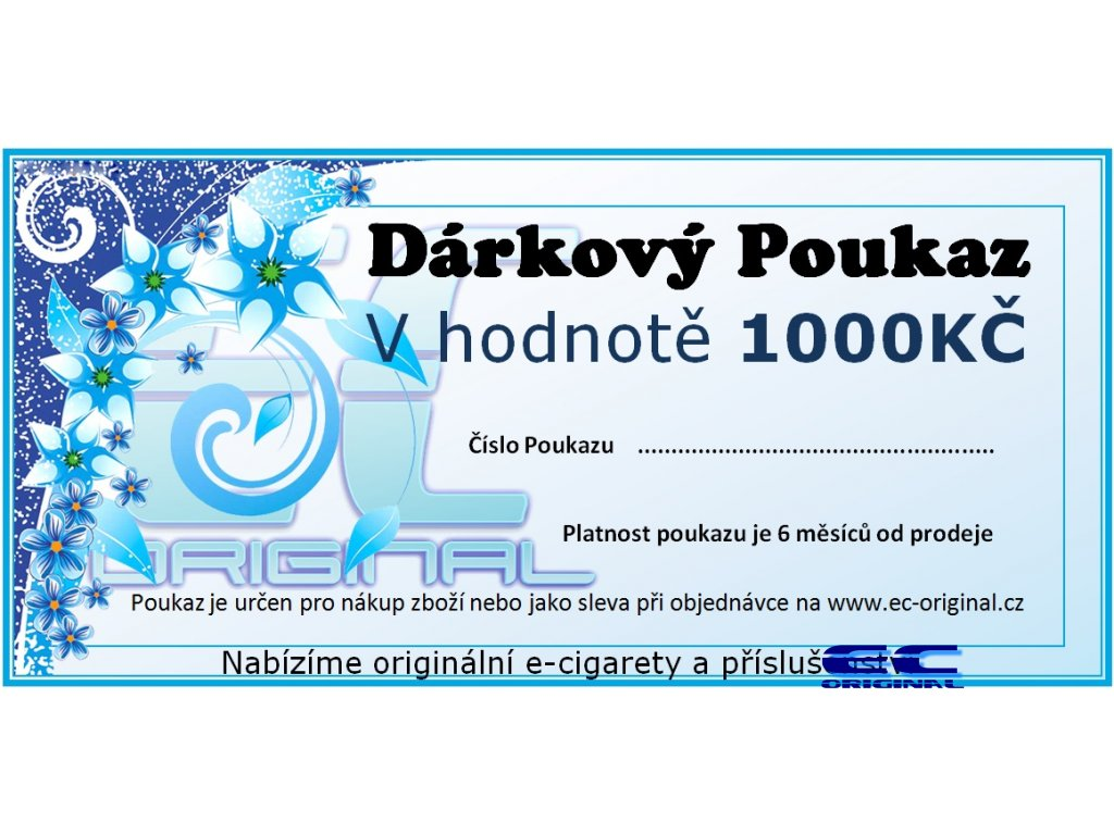Dárkový poukaz / kupon - 1000kč