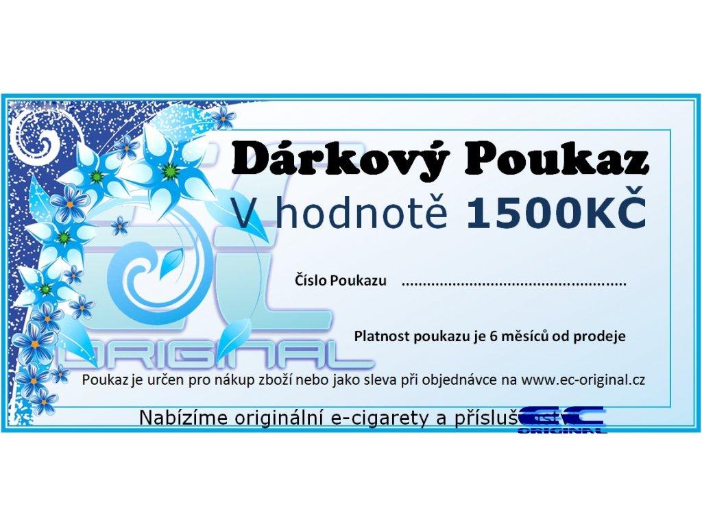 Dárkový poukaz / kupon - 1500kč