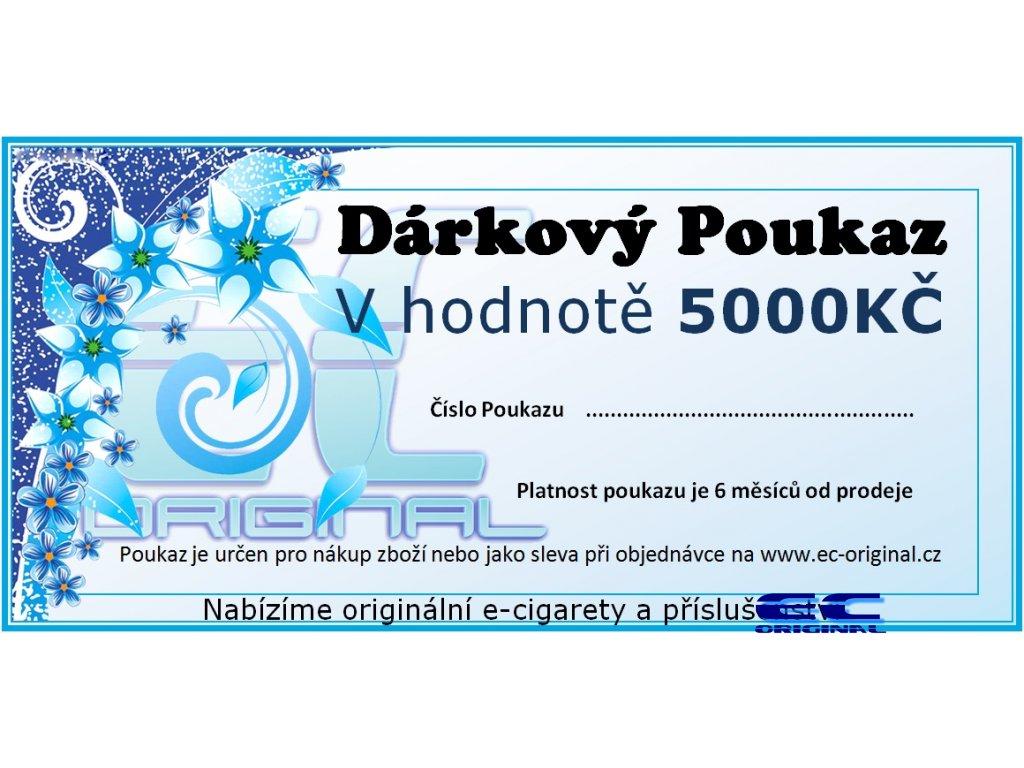 Dárkový poukaz / kupon - 5000kč